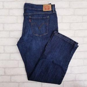 Levi's 505 Straight Jeans Medium Dark 16